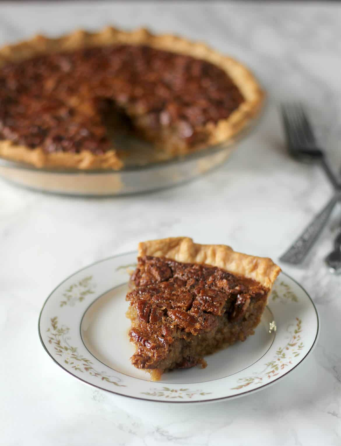 Pecan Pie recipe is a classic but swaps old-fashioned cane syrup ...
