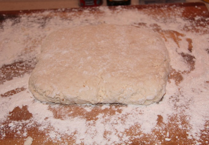 Dough for cinnamon roll biscuits
