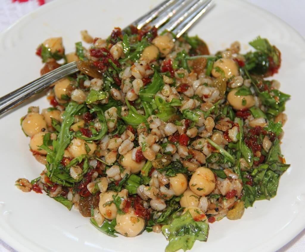 ... herb dressing roasted golden beet and millet spinach salad with herb