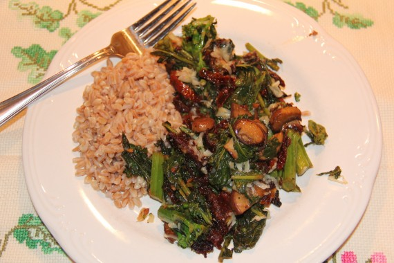 Broccoli Rabe, Sun-dried Tomatoes, and Mushrooms