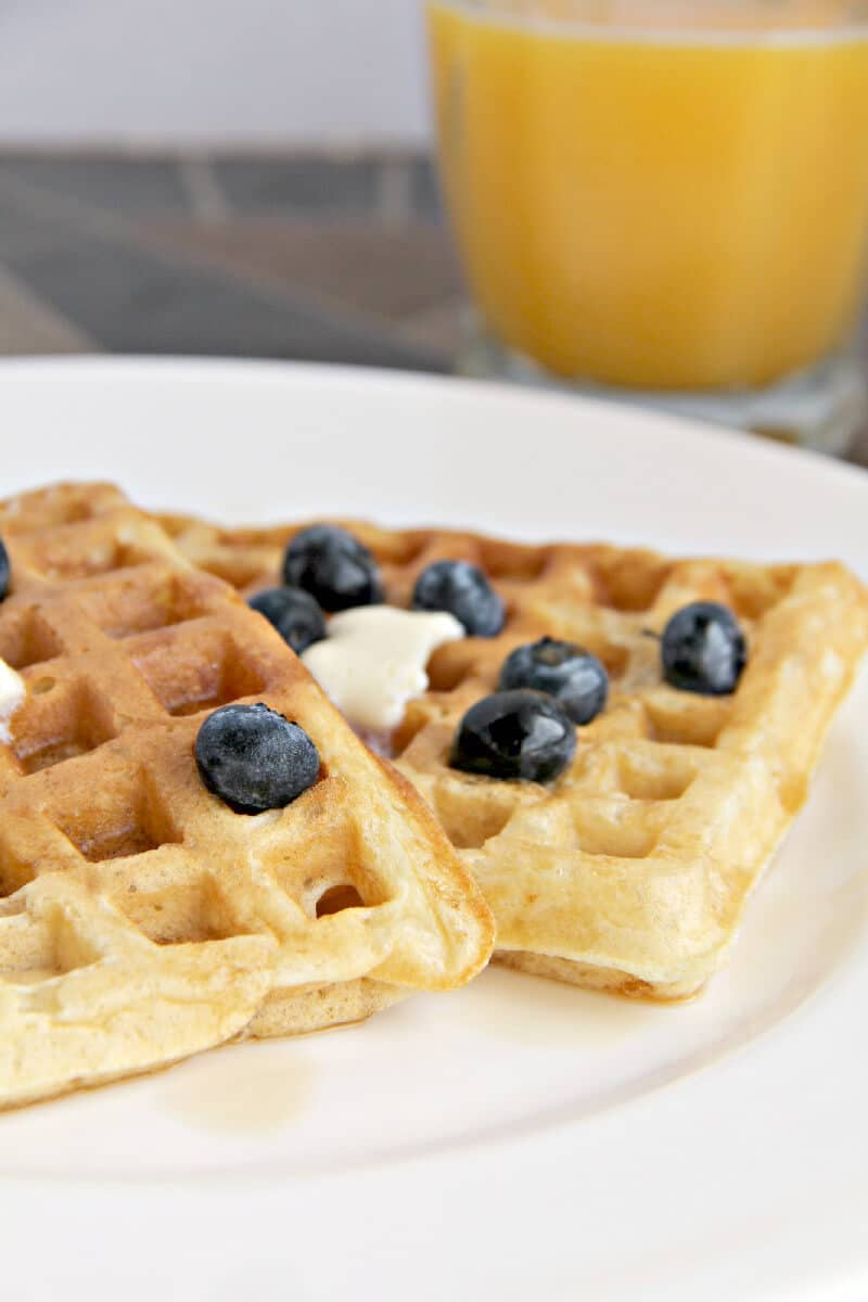 Diner style malted buttermilk waffles are divine for breakfast anytime ...