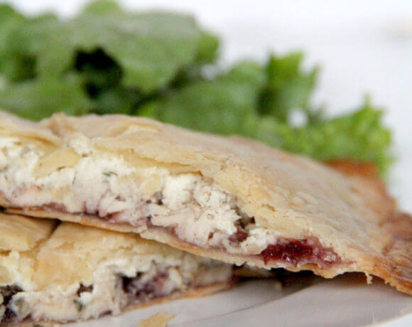 Savory Hand Pies with turkey, cranberry, and Boursin cheese are a great way to use your Thanksgiving turkey leftovers.