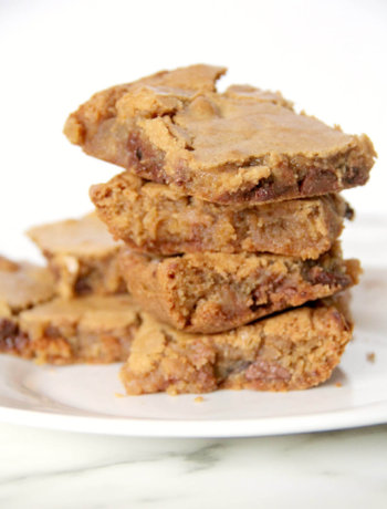 Blondies Recipe--add chocolate chips, nuts, toffee, dried fruit--endless possibilities!