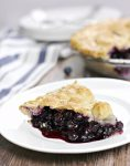 Homemade blueberry pie made with fresh blueberries is the perfect summer dessert!
