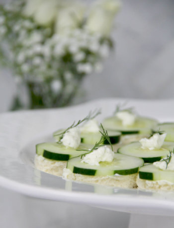 Easy cucumber tea sandwiches with cream cheese are a classic appetizer!