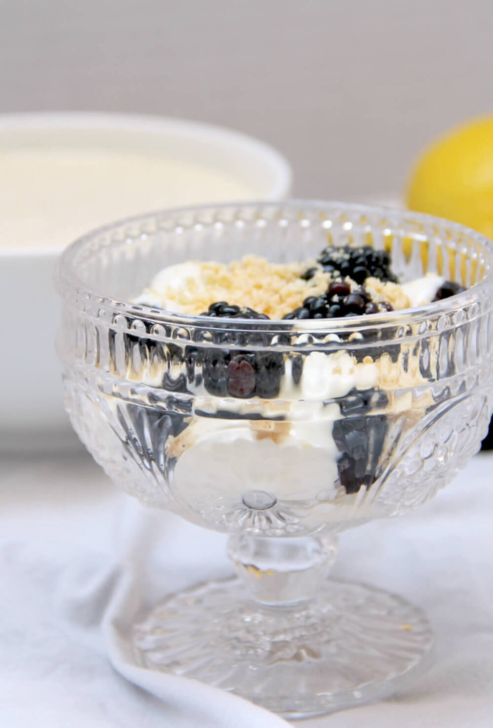 Lemon Cream is a quick and easy creamy dessert that can be spread on cookies, used as a pastry filling, or as a simple treat with fresh berries.