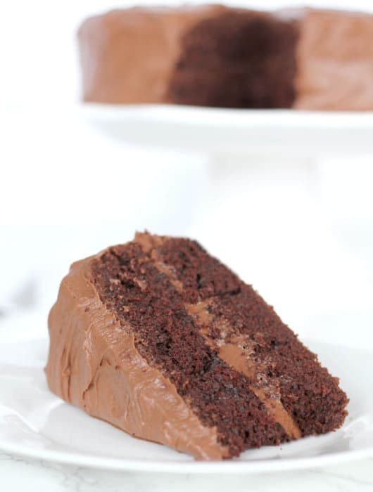The best chocolate cake made with Hershey's cocoa is a full-flavored chocolate layer cake with a chocolate cream cheese frosting! And it's one-bowl easy!