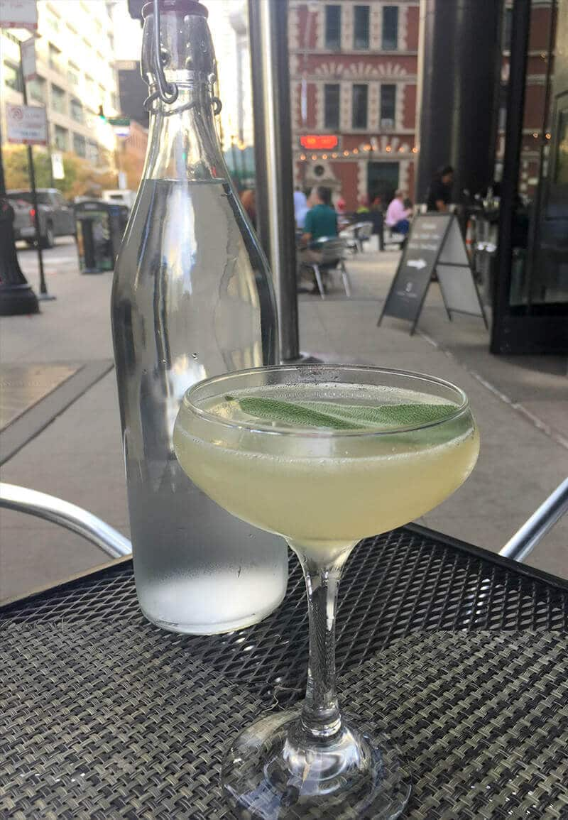 Chicago Food Guide featuring Siena Tavern cocktails outside