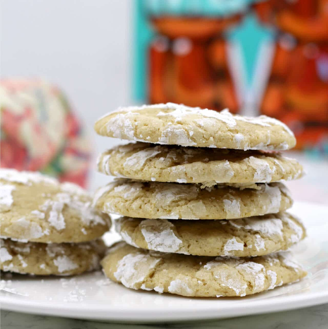 Lemon Crinkle Cookies with Brown Sugar | In a Southern Kitchen