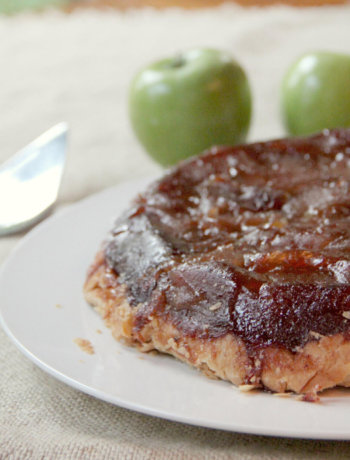Apple Tarte Tatin with Pears--easy, slow-cooked, caramelly, and delicious!
