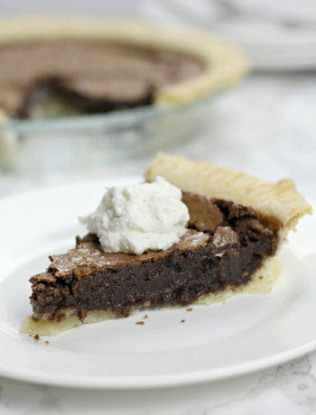 Fudge pie made with cocoa is super easy and bakes in 30 minutes!
