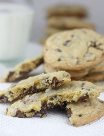 The best chocolate chip cookies are soft in the middle and a little crispy around the edges—with extra chocolate and lots of brown sugar!