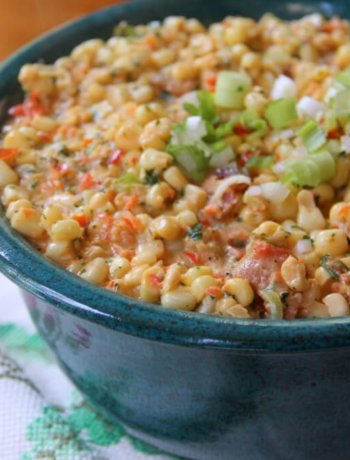 Spicy Creamed Corn with Bacon