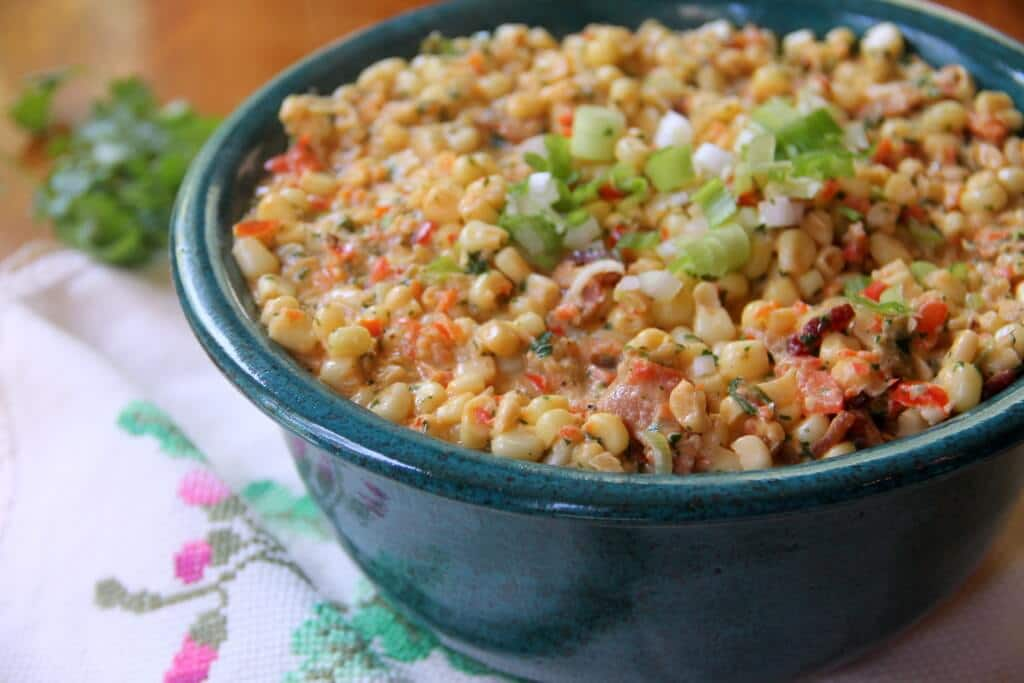 Mexican Creamed Corn With Bacon And Jalapenos
