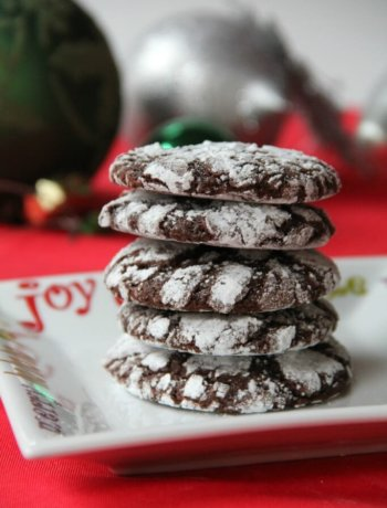 Chocolate Crinkles—soft chocolate cookies rolled in powdered sugar are festive and fun for any occasion! | inasouthernkitchen.com