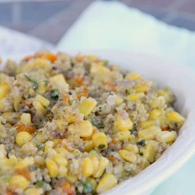 Quinoa Salad with Corn, Bell Pepper, and Jalapeno