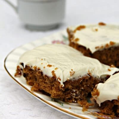 Pumpkin Bars with White Chocolate Cream Cheese Frosting