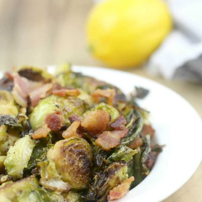 Brussels Sprouts Sauteed with Lemon, Dijon, and Parmesan
