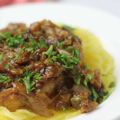 Pork Chops with Caramelized Onions, Capers, and White Wine