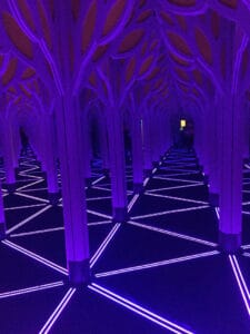 Chicago Travel Guide Museum of Science and Industry inside the Mirror Maze.