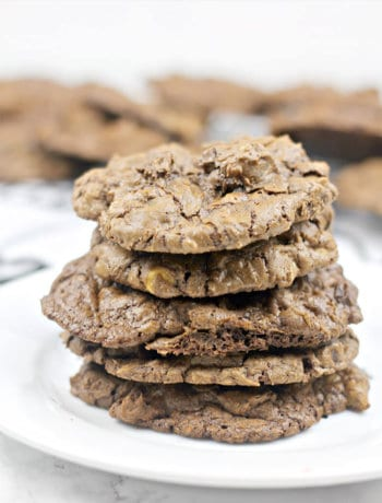 Chocolate Peanut Butter Cookies made with semisweet chocolate and peanut butter chips are an irresistible combination!