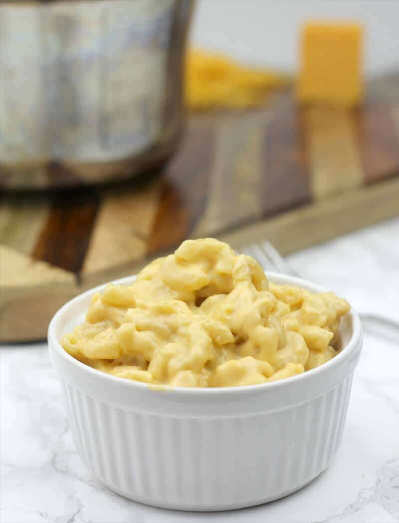 A bowl of the best stovetop mac and cheese.