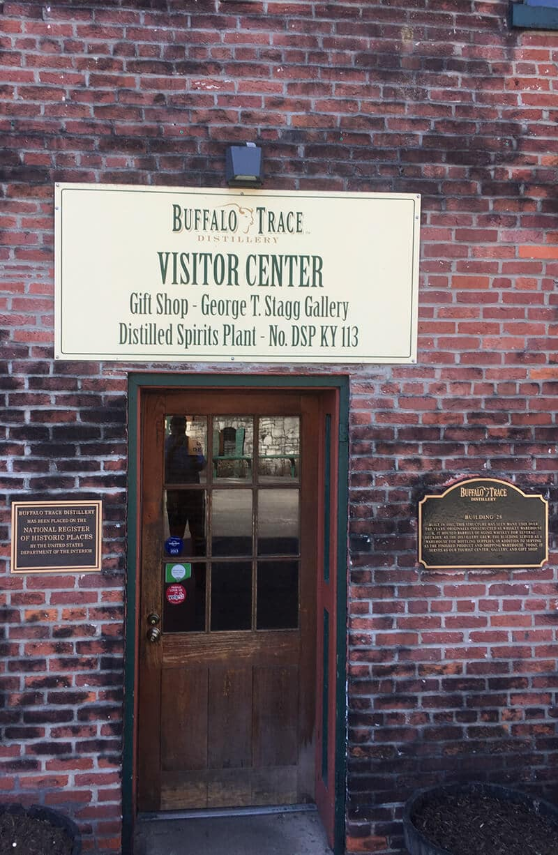 Kentucky Travel Guide showing The Visitor Center at Buffalo Trace Distillery.