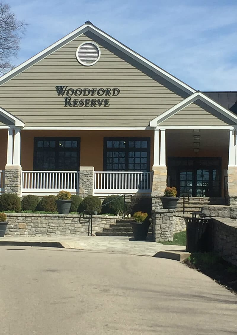 Kentucky Travel Guide showing The visitors center at Woodford Reserve Distillery.